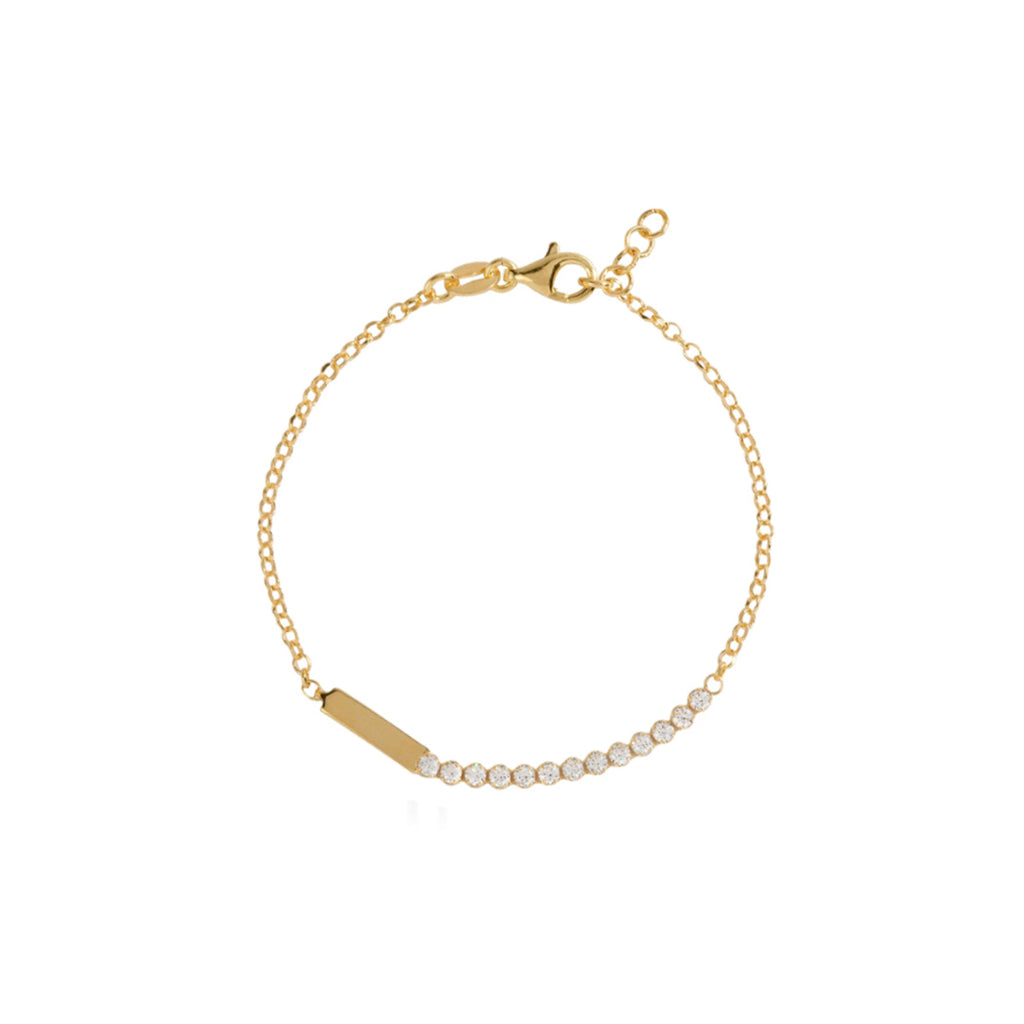 Tennis Bar Bracelet - Gold