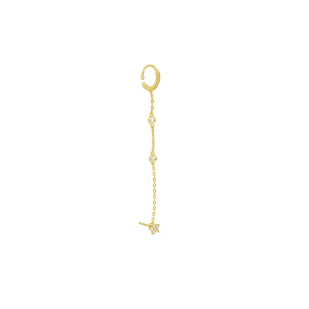 GOLD LAYERED SINGLE EARRING