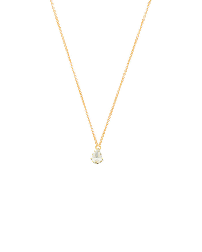 Bela Crystal Single Drop Necklace