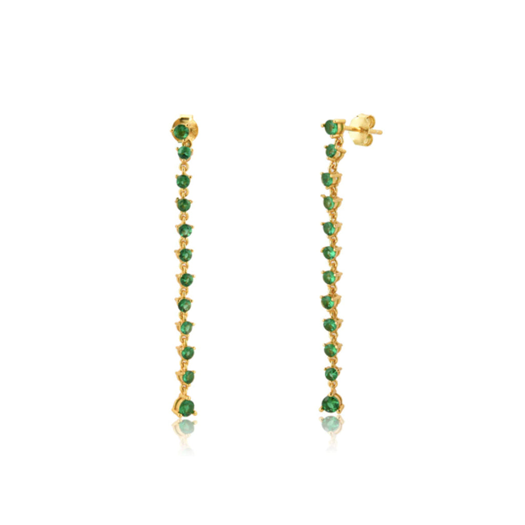 Julie Emerald Drop Earrings