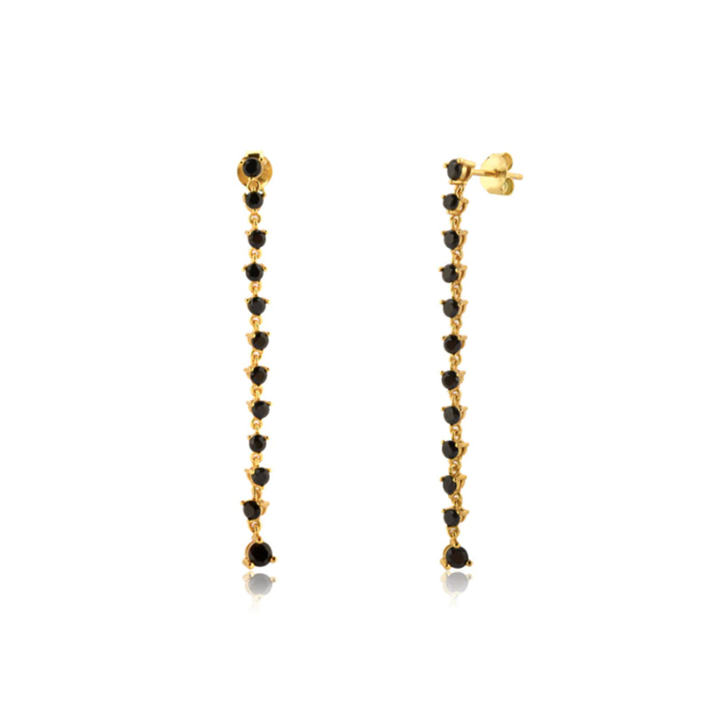 Julie Black Onyx Drop Earrings