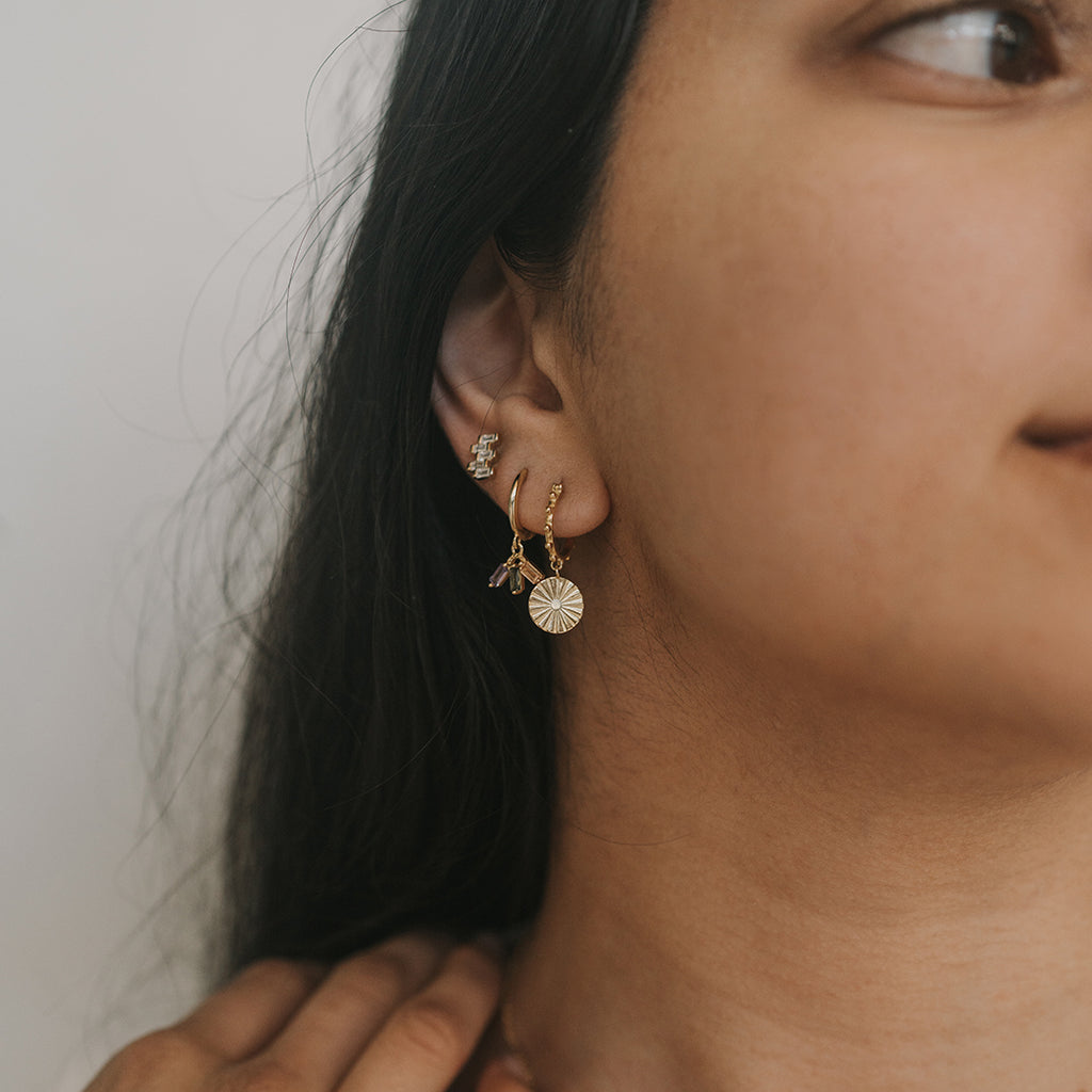 Celina Baguette Earrings Gold