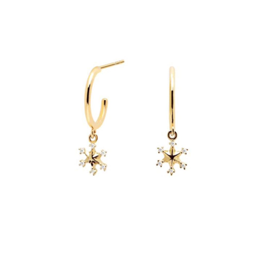 SNOW FLAKE GOLD EARRING