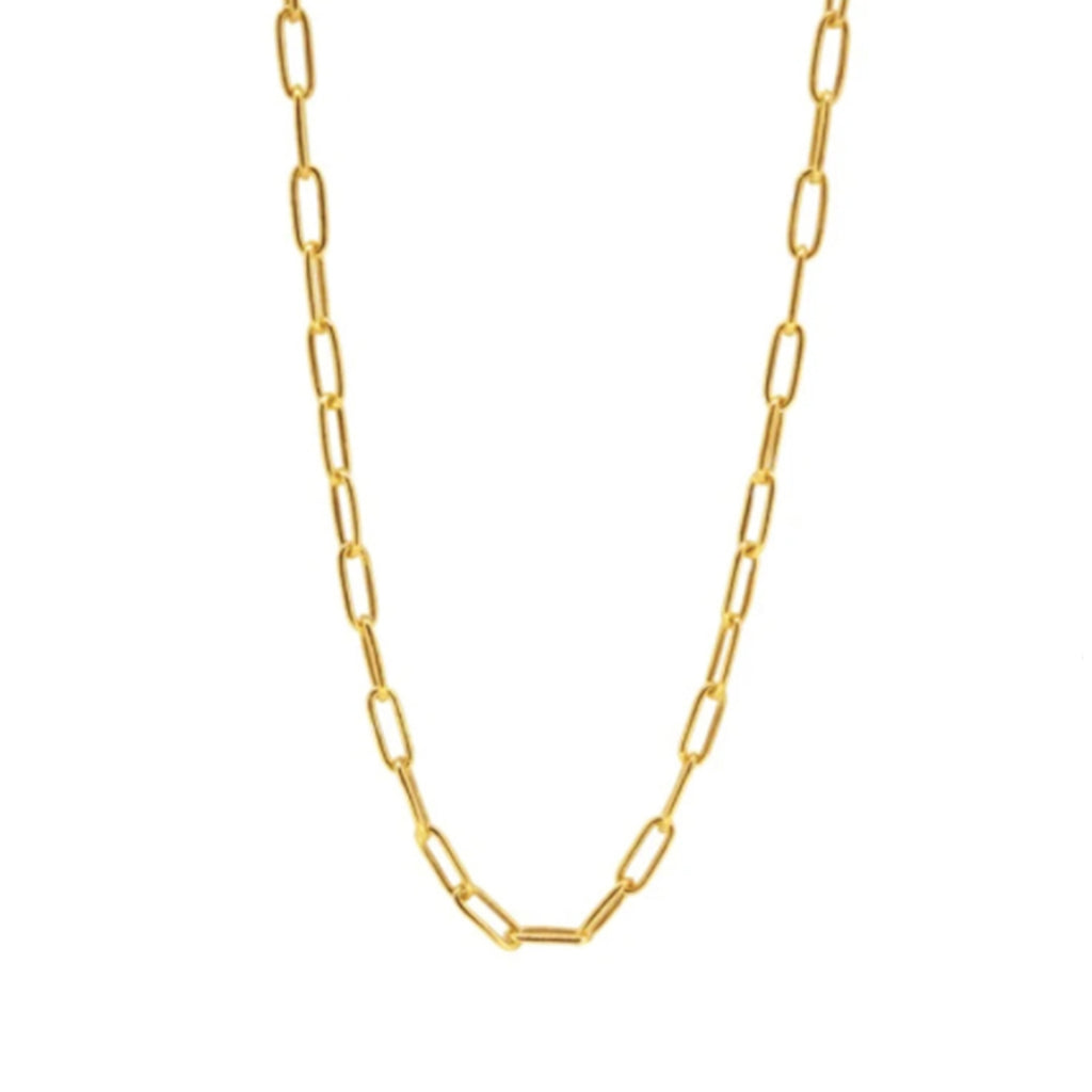 Paperclip chain necklace. Paper clip chain. Trendy necklaces. Necklace layering. How to layer necklace. How to layer two tone necklaces. Thin necklace. Basic layering piece. Where to buy classic necklaces. Where to buy layering necklaces.