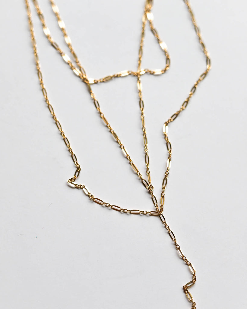 Razor Black 18K GOLD Necklace