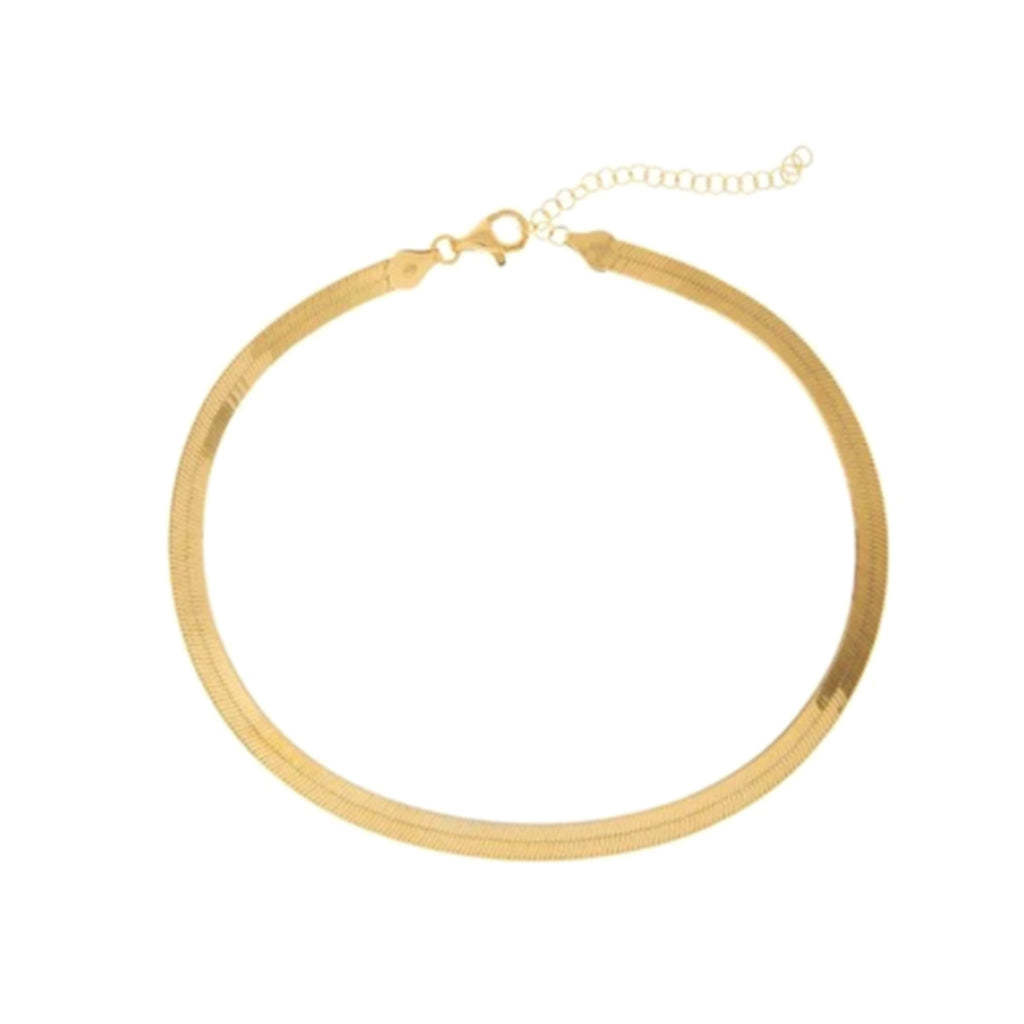 FLAT CHAIN GOLD NECKLACE