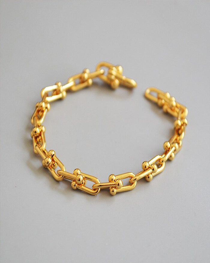 Linked Gold Bracelet