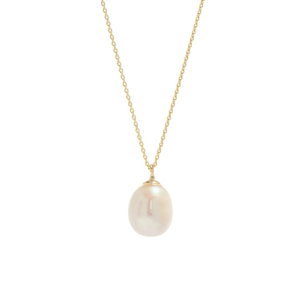 Pearl Drop Necklace - Gold