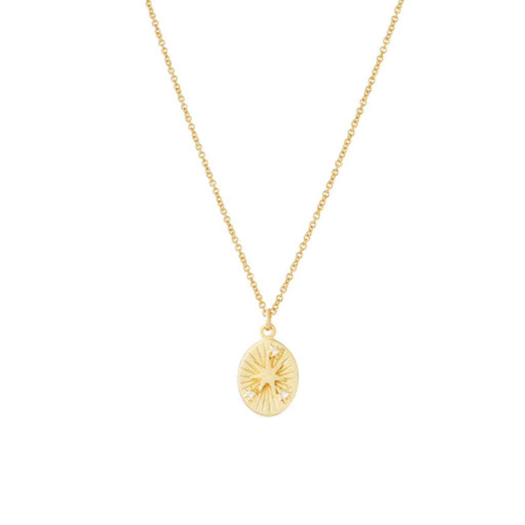 SUN THREE STONE TAROT NECKLACE gold