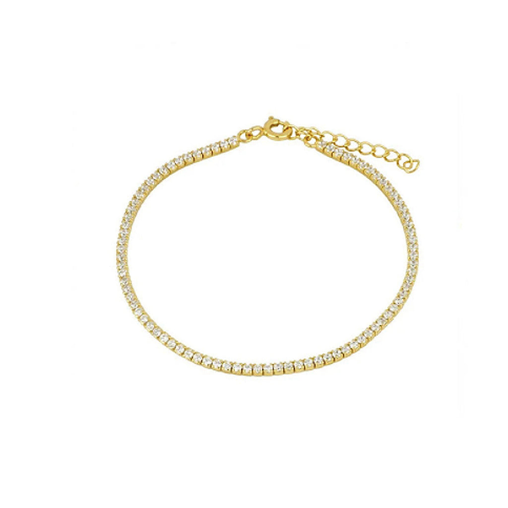 Tennis Crystal Bracelet Gold
