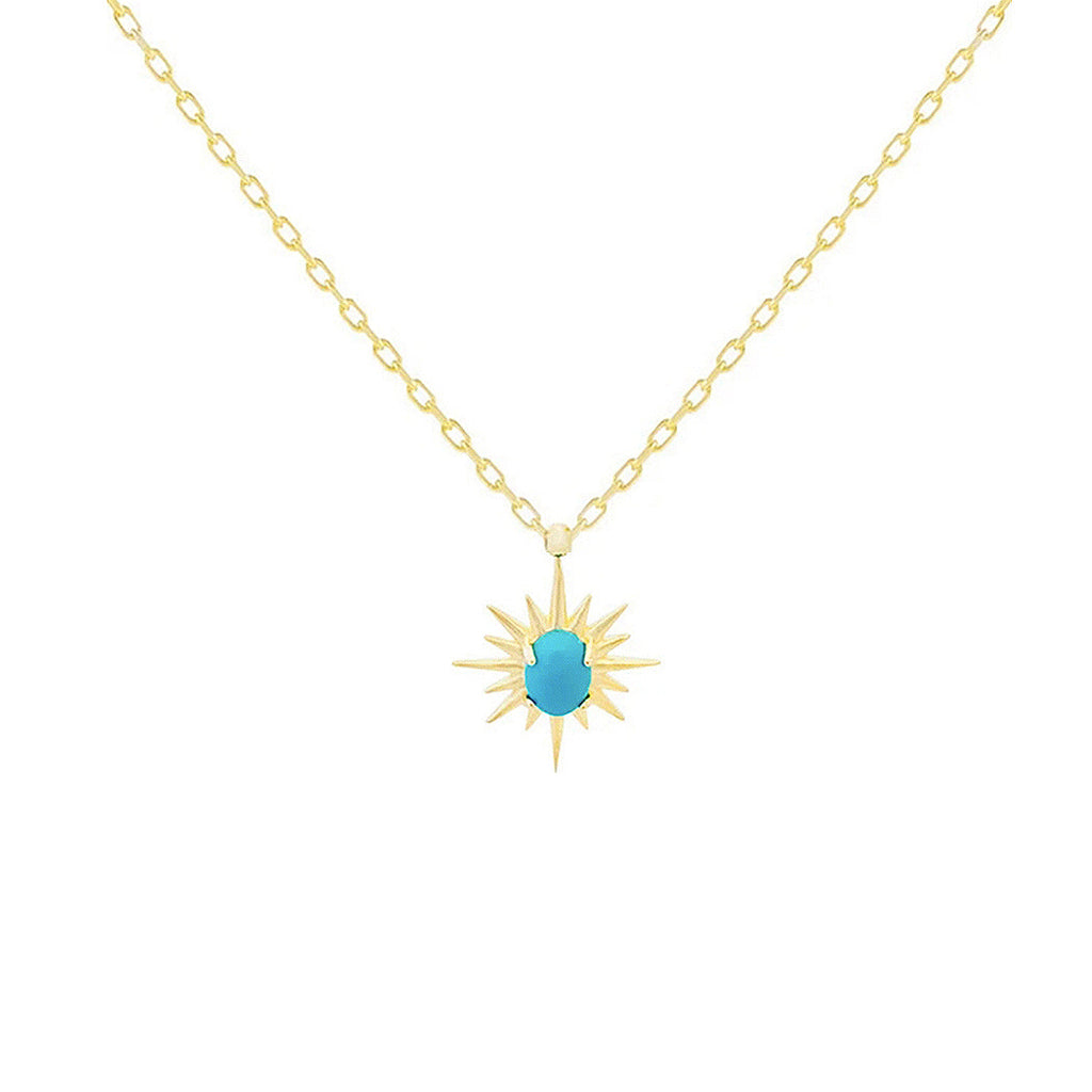 WILD WEST NECKLACE - TURQUOISE STONE