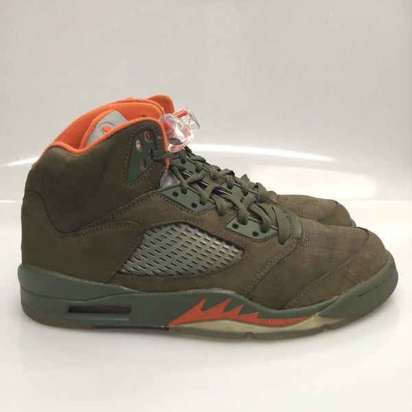 "Air Jordan 5 LS ""Army"" Size 8 Pre Owned"