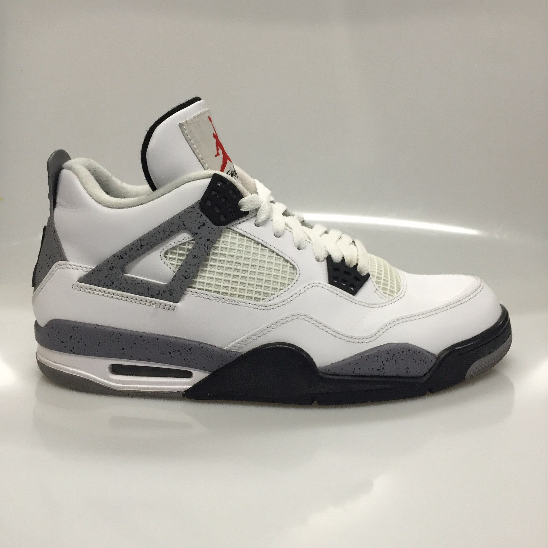 "Air Jordan 4 2012 ""White Cement"" Size 10.5 Pre Owned"