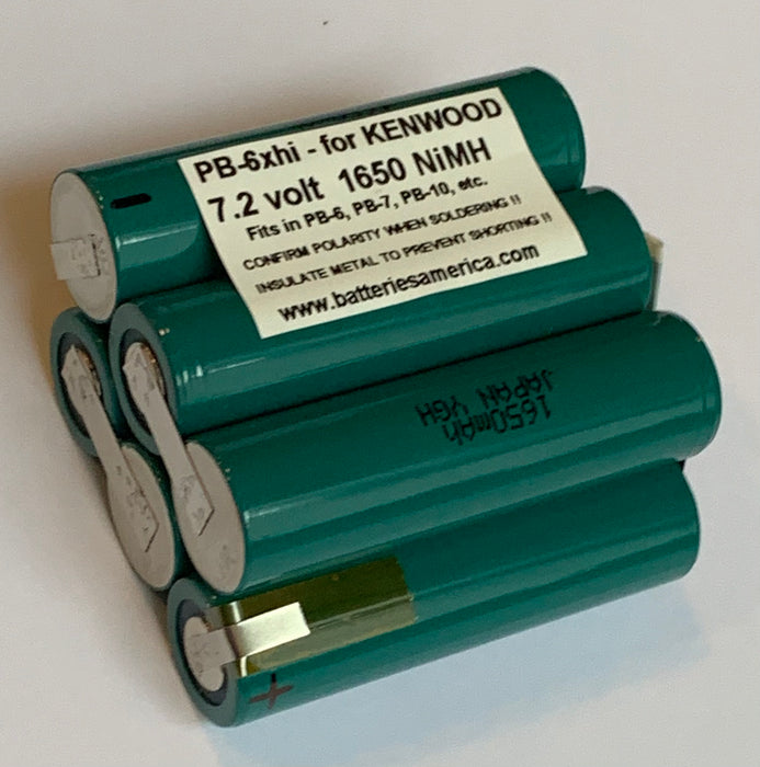 PB-6xhi : 7.2v 1650mAh NiMH battery insert for Kenwood