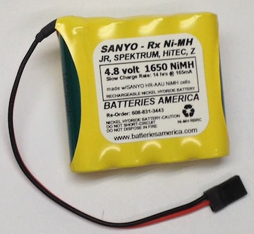 4HRAAUW : 4.8 volt 1650mAh AA rechargeable NiMH