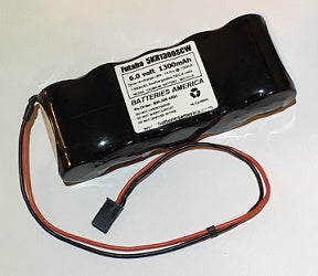 5KR1300SCW : 6.0 volt 1300mAh Sub-C rechargeable NiCd