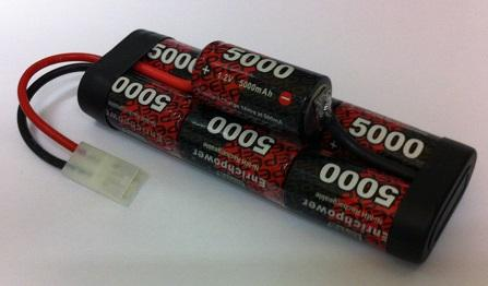 7EP5000SCH : 8.4 volt 5000mAh NiMH Rechargeable Hump Pack Battery