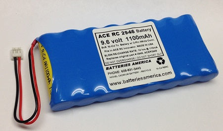 ACE 2946 : 9.6 volt 1100mAh Battery for ACS RC Innovator