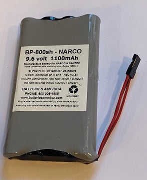 BP-800sh : 9.6v 1100mAh LONG LIFE Ni-Cd battery pack