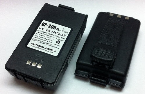 BP-200XL : (a.k.a. BP-200xh) 9.6 volt 1450mAh LONG LIFE rechargeable Ni-MH Battery Pack