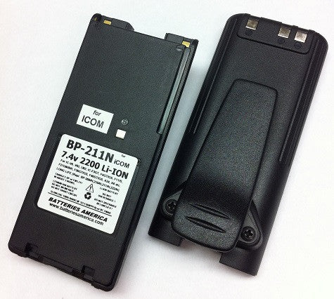 BP-211N : 7.4 volt 2200mAh rechargeable Lithium ION battery