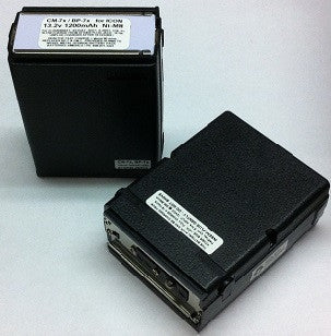 CM-7x : 13.2 volt 1200mAh Ni-MH battery pack for ICOM