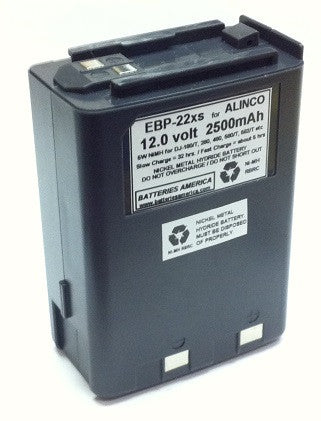 EBP-22xs : 12v 2500mAh NiMH battery for ALINCO