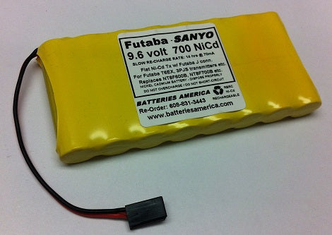 9.6TX-FLAT-AA-NiCd : 9.6 volt NiCd Flat Battery Packs for RC Transmitters