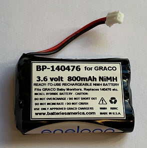 BP-140476: 3.6 volt 800mAh Ready-to-use battery for GRACO 140476 Baby Monitor