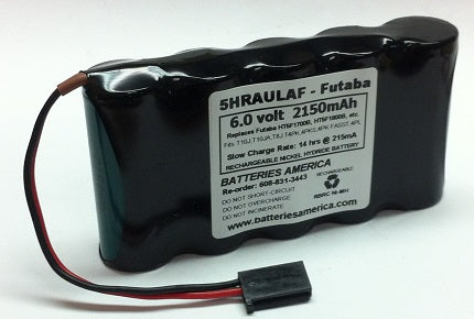 5HRAULAF : 6 volt 2150mAh rechargeable NiMH