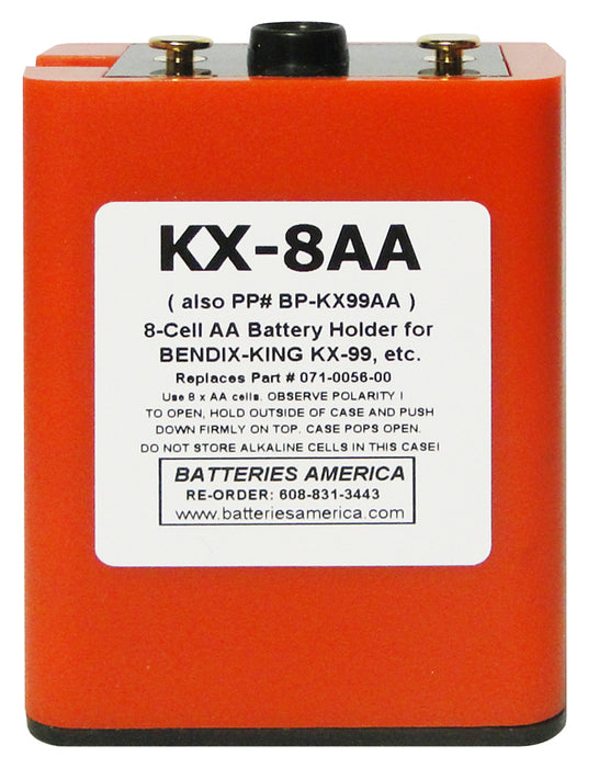 KX-8AA : AA Battery Case for Bendix King Radios