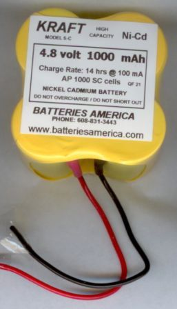 KRAFT 5C Ni-Cd transmitter battery
