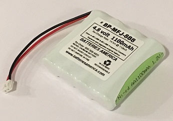 BP-MFJ-888 : 4.8v 1100mAh NiCd battery for MFJ-886, MFJ-888