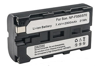 NP-F550 : 7.2v 2900mAh battery for SONY