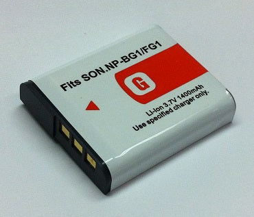 NP-BG1:  3.7v 1600mAh Li-ION battery for SONY digital cameras (NP-FG1)