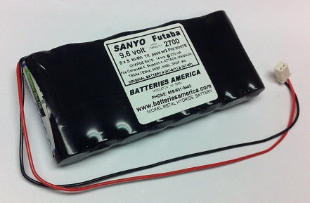 NT8JY : 9.6 volt battery pack for Futaba transmitters