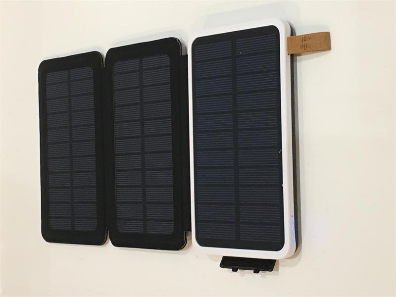 PB-10000-Qi: Solar Power Bank Battery Charger