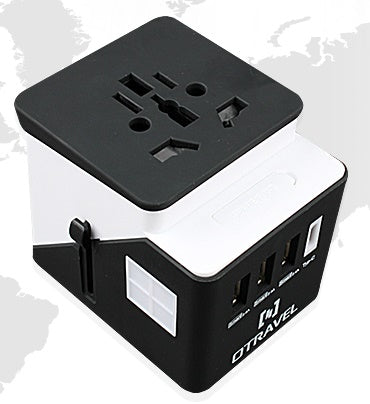 Worldwide Travel Adapter, USB x 3, Type C