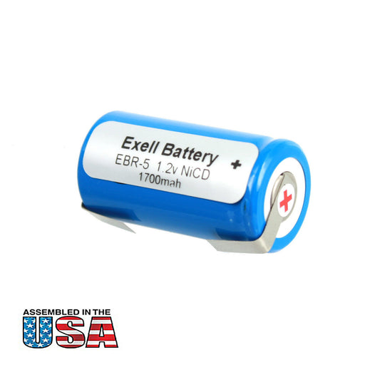 Exell 1.2V Razor Battery For Sears Craftsman N1200SC P130SCR ROTOMATIC 2