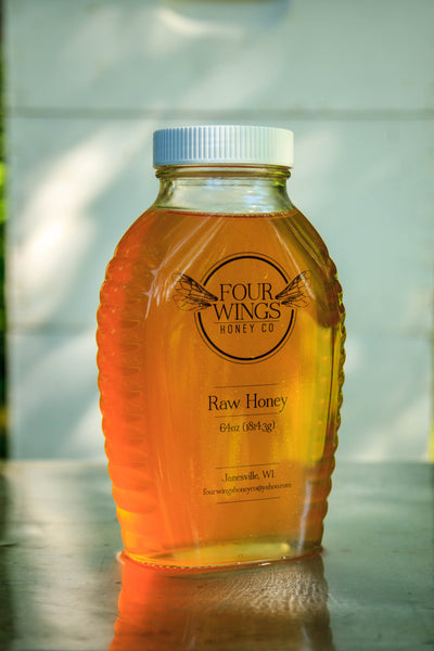 Raw Clover Honey (4lb Glass Jar)