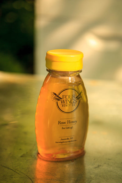 Raw Clover Honey (8oz-16oz Plastic Squeeze Bottle)