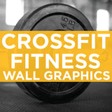 crossfit and fitness wall graphics