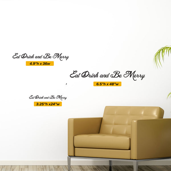 Eat Drink And Be Merry Wall Decal 0006 Kitchen Wall Decals Food Dec Wall Decal Studios Com