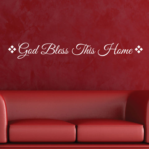 God Bless This Home Wall Lettering, 0033, Wall Decals, Wall Stickers, God Bless