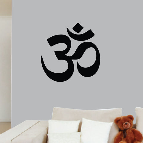 Hindu Om Wall Decal, 0051, Yoga Wall Decal, Sanskrit Wall Decal