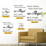 Angel Baby Wall Decal, 0094, angel baby memorial, angel baby wall art