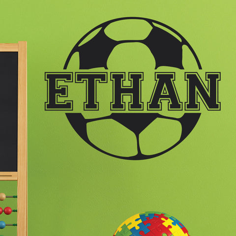 Custom Soccer Name Wall Decal, 0122, Personalized Soccer Name Wall Decal, Girls Soccer, Boys Soccer, Custom Name