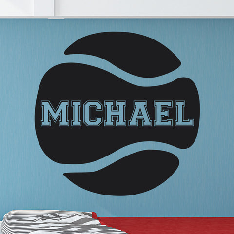 Custom Tennis Name Wall Decal, 0123, Personalized Tennis Name Wall Decal, Girls Tennis, Boys Tennis
