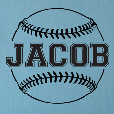 Custom Baseball Name Wall Decal, 0124, Personalized Baseball Name Wall Decal, Girls Softball, Boys Baseball