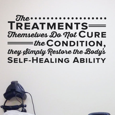Restore the body's Self healing ability, Wall Decal, 0142, Chiropractor Wall Lettering